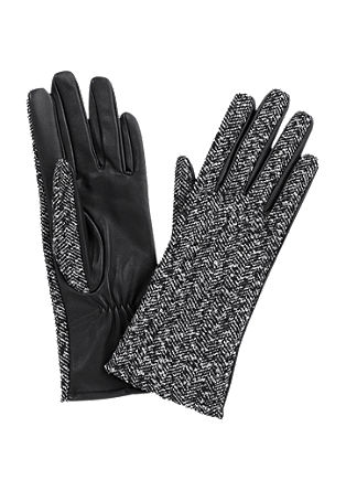 Gloves in wool and leather from s.Oliver
