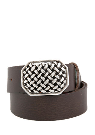 Grained leather belt from s.Oliver