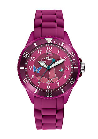 Grappig horloge met siliconenband