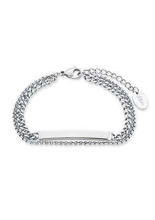 Graveerbare armband met naamplaatje 'silver'