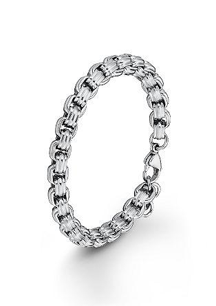 Grobe Armkette aus Edelstahl