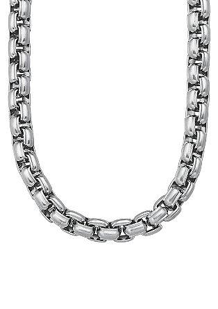 Grobe Halskette aus Edelstahl
