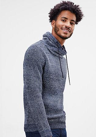Grobo pleten pulover s šal ovratnikom