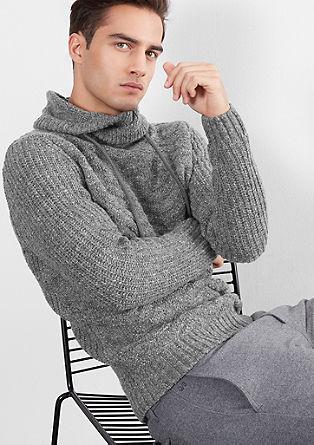 grobo pletena pulover
