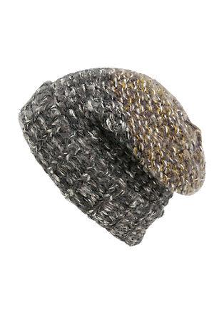 Grobstrickmütze aus Melangegarn