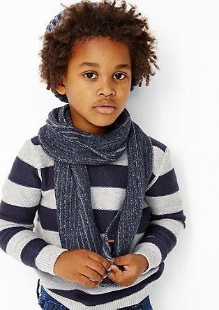 Grof gebreide sjaal met strepen