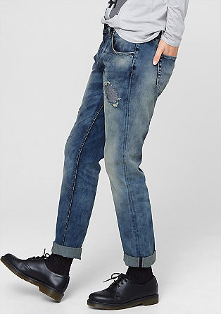 Gwen Boyfriend: Jeans mit Destroyes