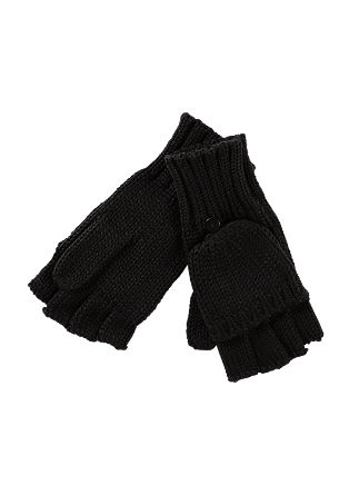 Half-finger gloves with a mitten cover from s.Oliver