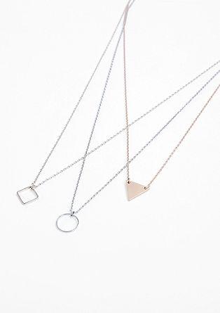 Halskette im geometrischen Look