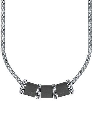 Halskette mit Carbon-Beads
