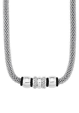 Halskette mit Edelstahlelementen