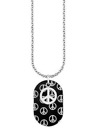 Halskette mit Peace-Anhänger