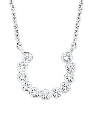 Halskette mit Zirkonia-Hufeisen