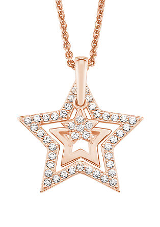 Halskette mit Zirkonia-Stern