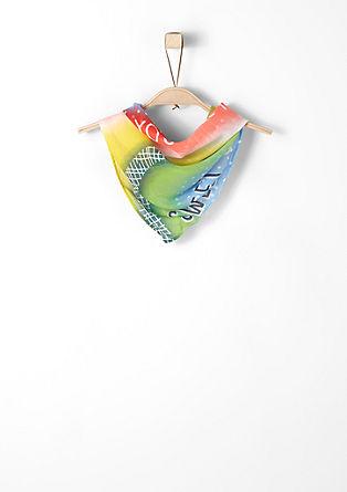 Halstuch in Regenbogenfarben