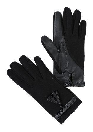 Handschoenen met details van imitatieleer