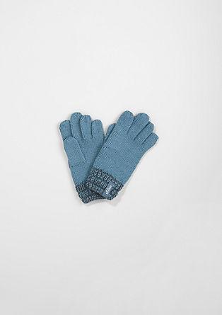 Handschoenen met geribde bies