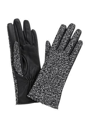 Handschoenen van wol en leer