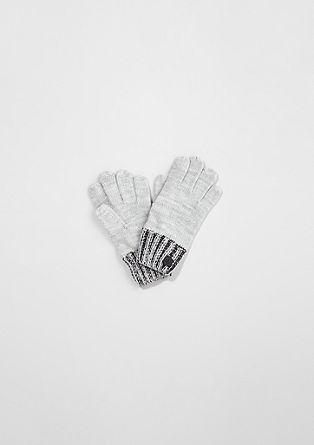 Handschuhe aus Glattstrick