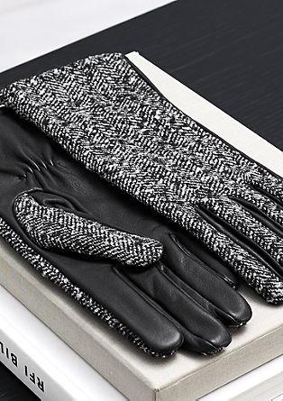 Handschuhe aus Wolle und Leder