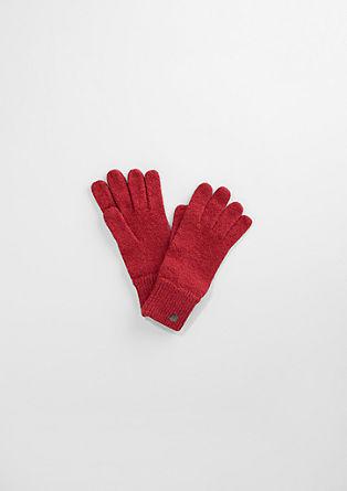 Handschuhe in melierter Optik
