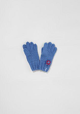 Handschuhe mit Glitzer-Garn