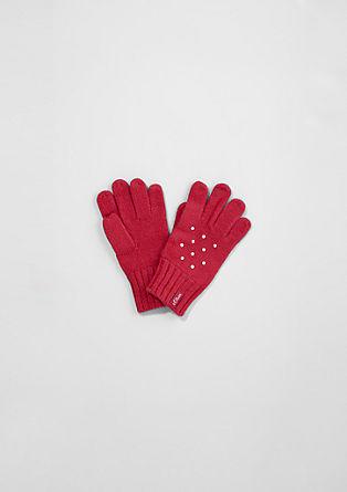 Handschuhe mit Schmucksteinen