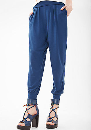 Harem trousers made of soft jersey from s.Oliver