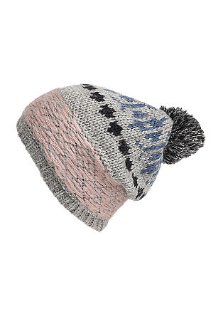Hat in a mix of textures from s.Oliver