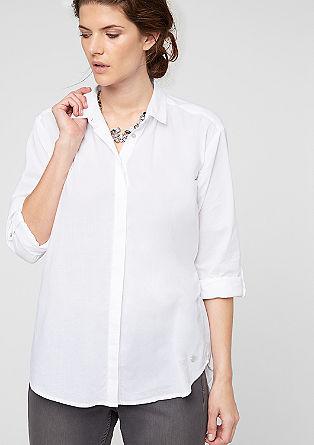 Hemdbluse mit Perlmuttknöpfen