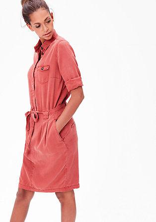 Hemdblusenkleid in gewaschener Optik