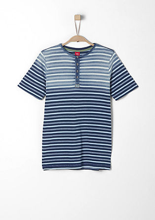 Henley top with a striped texture from s.Oliver