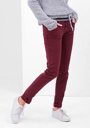 High rise skinny: gekleurde jeans