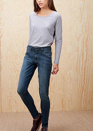 High Rise Skinny: Jeans mit hohem Bund