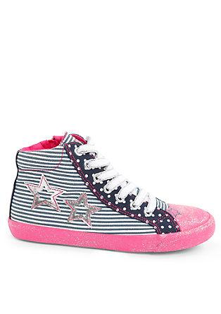 High-Sneaker im Mustermix