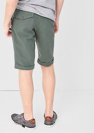 Hlače Chino: bermuda hlače z vzorcem dobby