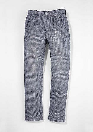 Hlače chino: raztegljive hlače z žakard