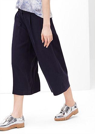 hlače culotte iz padajočega materiala