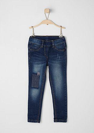Hlačne pajkice: Jeans hlače z vezenimi elementi