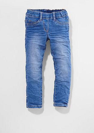 Hlačne pajkice: Modre jeans hlače Electric Blue
