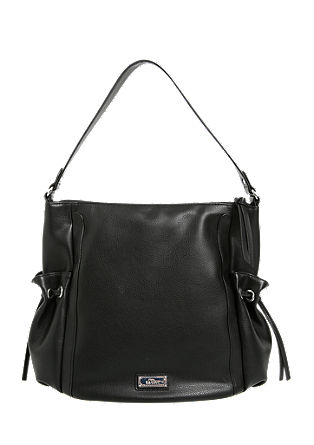 Hobo Bag aus glänzendem Kunstleder