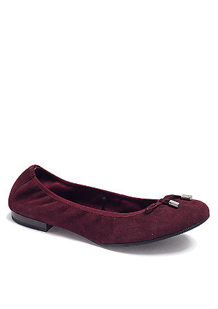 Hoch flexible Leder-Ballerinas