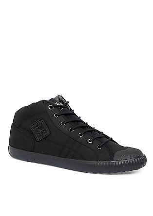 Hoge sneakers met een rubberen look