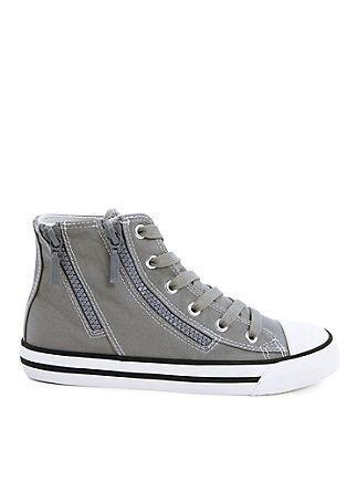 Hoge sneakers van textiel