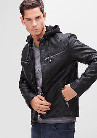 Hooded biker jacket from s.Oliver