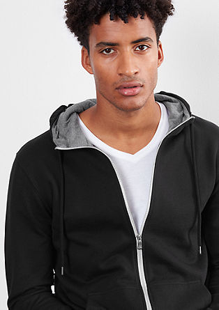 Hooded jacket with contrasting details from s.Oliver