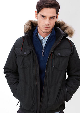 Hooded jacket with fake fur from s.Oliver