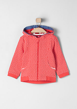 Hooded jacket with strawberry print from s.Oliver