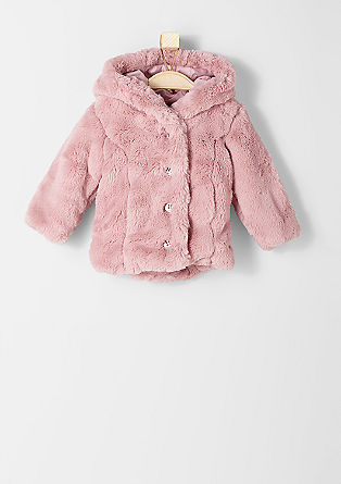 Hooded plush jacket from s.Oliver