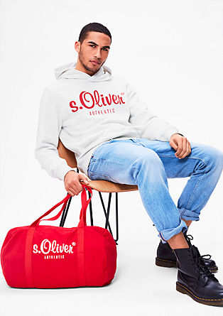 Hooded sweatshirt with a printed logo from s.Oliver